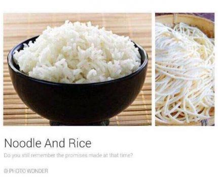 面条与米饭