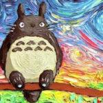 脑洞插画:当梵高遇到龙猫