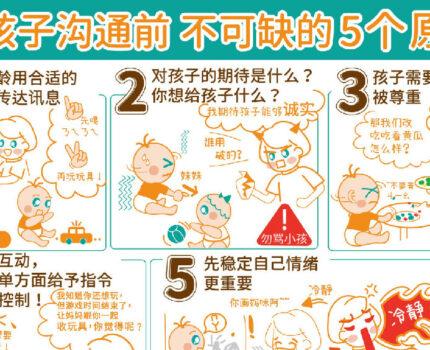 【和孩子沟通前──不可缺的5个原则】