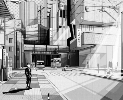 日式漫画风效果图   网红图纸制作请注意查收