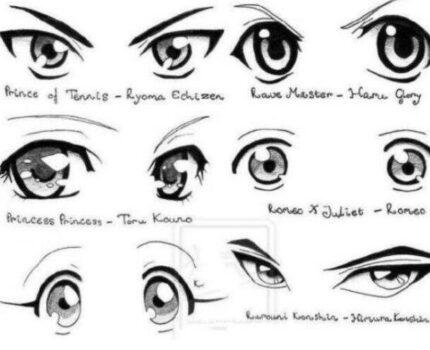 怎么画眼睛?二次元动漫人物眼睛的画法!