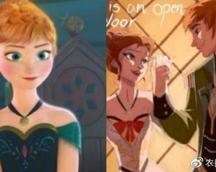 若迪士尼角色转换性别,汉斯比安娜公主还要美,艾莎成帅气王子