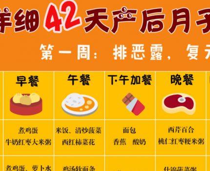 42天月子餐食谱,产后恢复+下奶,营养不发胖!