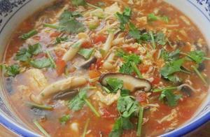 番茄菌菇汤的家常做法,味道鲜美,酸爽开胃,没胃口时要多喝它