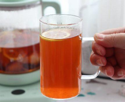 蜜桃柠檬红茶,简单的自制饮品,冷热饮用都好喝,大人孩子放心喝