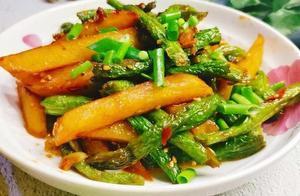 最下饭的素菜当数豆角土豆条,按照这个步骤做,绝对不翻车