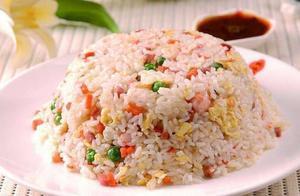 美食分享:火腿虾仁蛋炒饭、火腿肉松蛋卷、火腿鲜虾粥的简单做法
