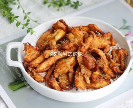 水煮鸡胸肉吃够了,换个吃法吧不用1滴油,焦香里嫩比羊肉串还香
