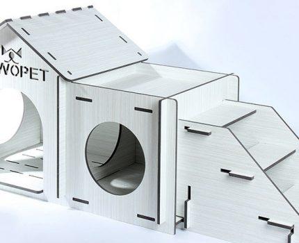 广州宠物屋生产批发厂家,双层结构产品提供玩耍空间