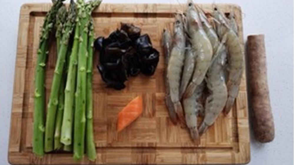 我的神仙菜单,芦笋炒虾仁山药木耳
