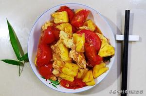 家常西红柿炒鸡蛋,多加入1样食材,酸甜可口,给东坡肉也不换