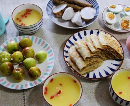 勤快宝妈晒早餐,小丰盛,大人孩子吃得香,网友:太羡慕了