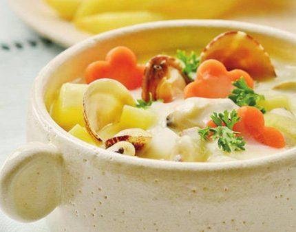 意式风情蛤蜊土豆奶油汤,汤头浓郁回味无穷